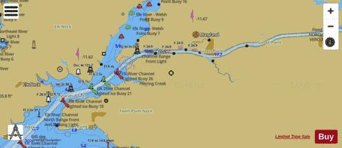 CHESAPEAKE AND DELAWARE CANAL BOTTOM PANEL Marine Chart - Nautical Charts App
