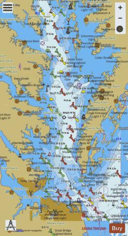 Chesapeake Bay Southern Part Marine Chart Nautical Charts App