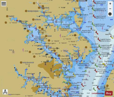 CHESAPEAKE BAY SEVERN AND MAGOTHY RIVERS (Marine Chart ...