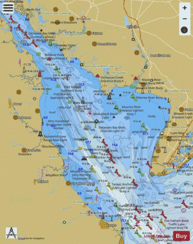 map of delaware bay Delaware Bay Marine Chart Us12304 P667 Nautical Charts App map of delaware bay