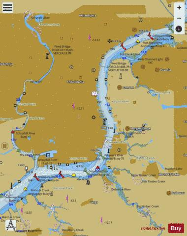 DELAWARE RIVER PHILADELPHIA AND CAMDEN WATERFRONTS Marine Chart - Nautical Charts App