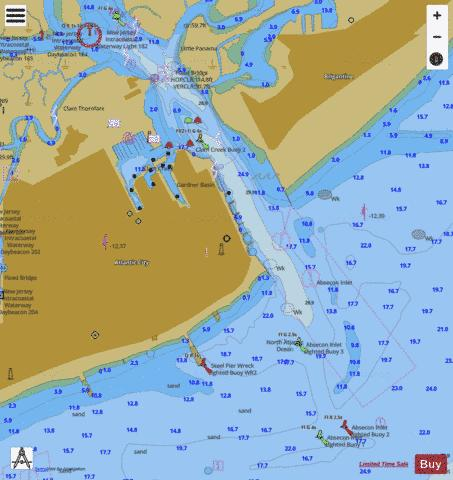 atlantic city inset marine chart nautical charts app