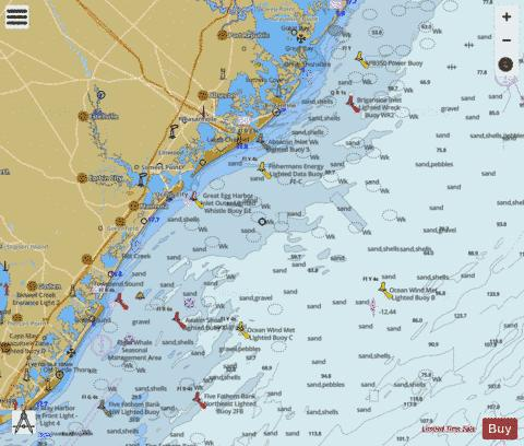 LITTLE EGG INLET TO HEREFORD INLET Marine Chart - Nautical Charts App