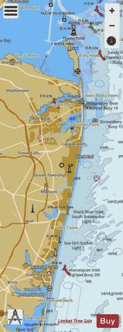 SANDY HOOK TO LITTLE EGG HARBOR NEW JERSEY Marine Chart - Nautical Charts App