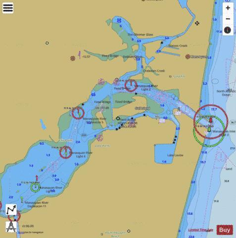 Manasquan Inlet Marine Chart Nautical Charts