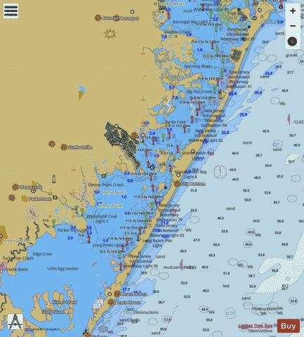 Sandy Hook To Little Egg Harbor New Jersey Marine Chart