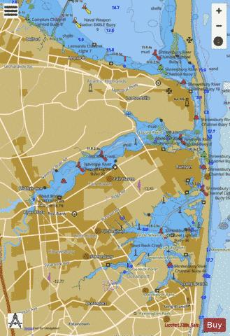NAVESINK AND SHREWSBURY RIVERS Marine Chart - Nautical Charts App
