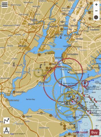 Map Of New York Harbour.New York Harbor Marine Chart Us12327 P2245 Nautical Charts App