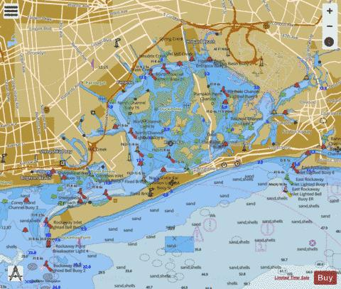 JAMAICA BAY AND ROCKAWAY INLET Marine Chart US12350P691 - Jamaica On Us Map