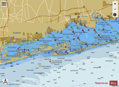 SOUTH OYSTER BAY TO GREAT SOUTH BAY  LONG ISLAND NY Marine Chart - Nautical Charts App