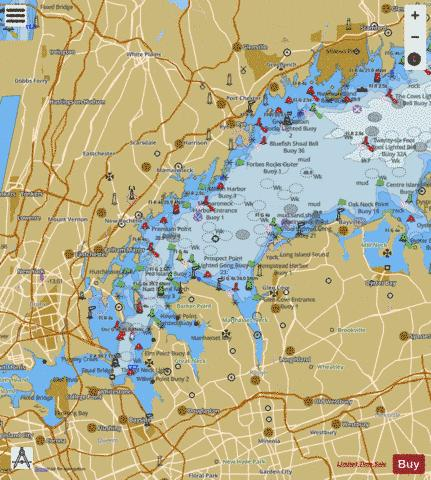 NEW HAVEN HBR ENT and PORT JEFFERSON THROGS NECK Marine Chart - Nautical Charts App