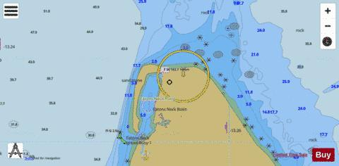 EATONS NECK INSET 12 Marine Chart - Nautical Charts App