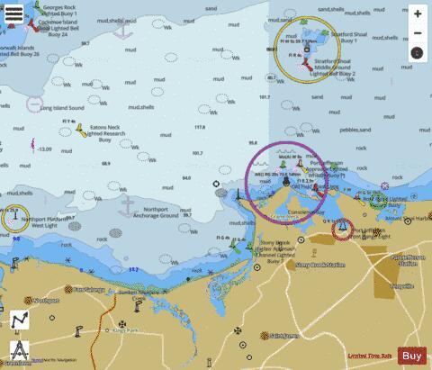 LI SOUND SMITHTOWN BAY (Marine Chart : US12364_P2212) | Nautical