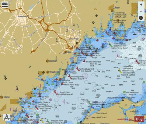 N SHORE LONG ISL SD-GREENWICH PT TO NEW ROCHELLE Marine Chart - Nautical Charts App