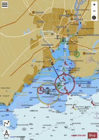 NEW HAVEN HARBOR (Marine Chart : US12371_P2183) | Nautical Charts App