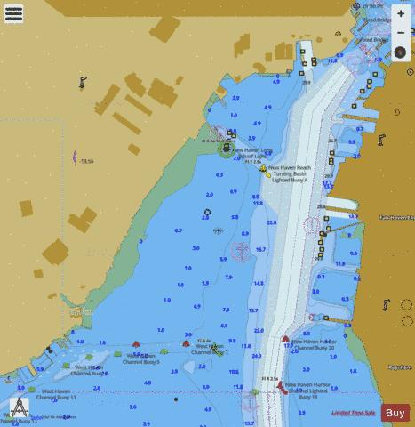 NEW HAVEN HARBOR  INSET  CONN Marine Chart - Nautical Charts App
