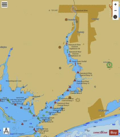 PAWCATUCK RIVER EXTENSION Marine Chart - Nautical Charts App