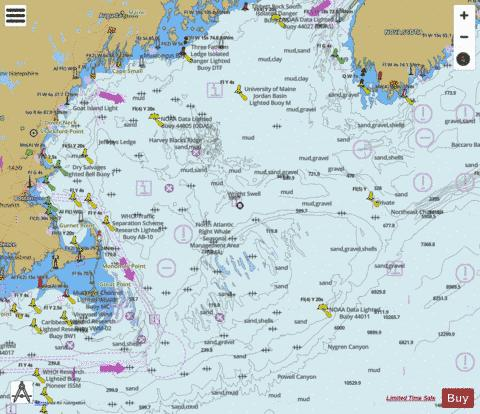 GULF OF MAINE AND GEORGES BANK Marine Chart - Nautical Charts App