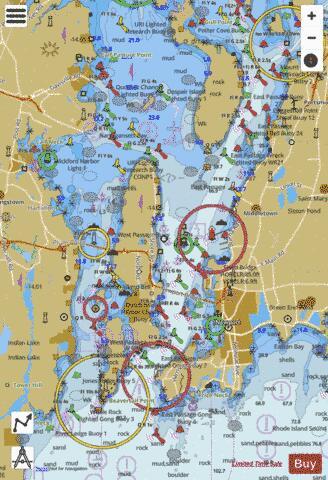 Narragansett Bay Incl Newport Harbor Ri Marine Chart Nautical Charts