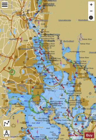 Providence R And Head Of Narragansett Bay Ri Marine Chart