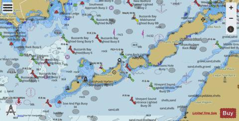 SOUTH COAST OF CAPE COD and BUZZARDS BAY MASS. Marine Chart - Nautical Charts App