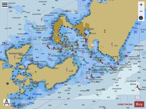 WOODS HOLE  MA Marine Chart - Nautical Charts App