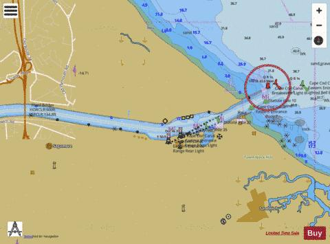 Cape Cod Canal And Approaches Extension Ma Marine Chart