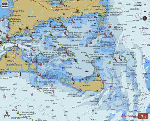 NANTUCKET SOUND AND APPROACHES MA Marine Chart - Nautical Charts App