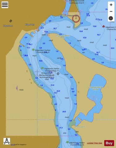 EDGARTOWN HARBOR  MA Marine Chart - Nautical Charts App