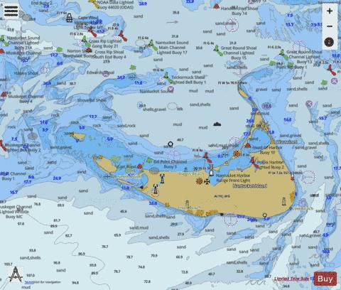 NANTUCKET ISLAND MA Marine Chart - Nautical Charts App