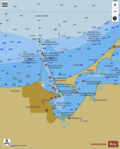 NANTUCKET HARBOR  MA Marine Chart - Nautical Charts App