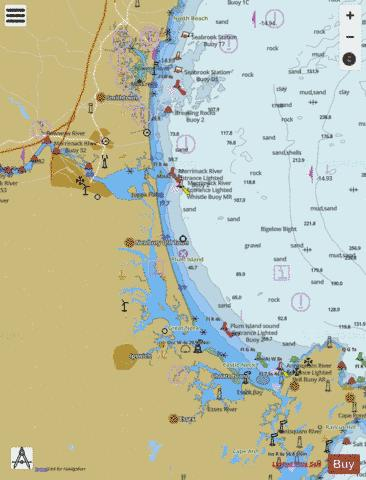 CAPE ANN TO HAMPTON HARBOR SIDE A LEFT Marine Chart - Nautical Charts App