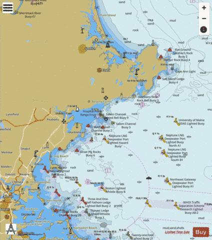 DEER ISLAND TO CAPE ANN  SIDE B Marine Chart - Nautical Charts App