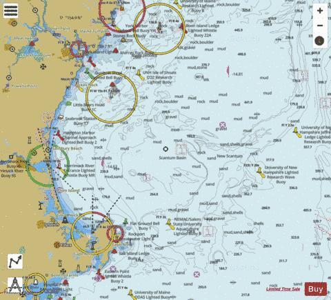 Portsmouth To Cape Ann Nh Ma Me Marine Chart Us13278p2069
