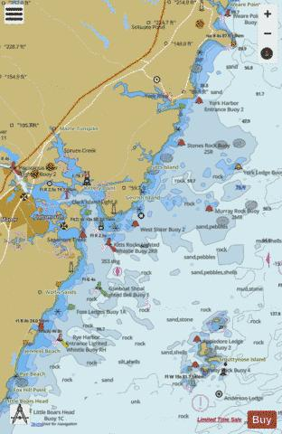PORTSMOUTH HBR CAPE NEDDICK HBR TO ISLES OF SHOALS Marine Chart - Nautical Charts App