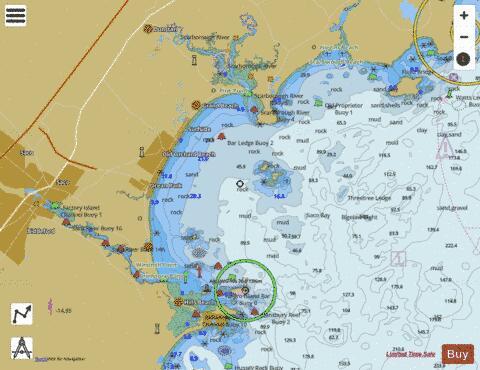 Saco Bay And Vicinity Me Marine Chart Us13287p2054 Nautical