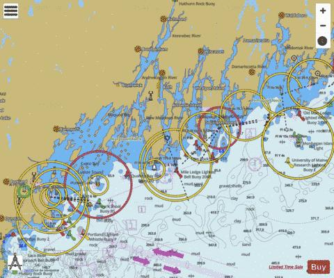 MONHEGAN ISLAND TO CAPE ELIZABETH Marine Chart - Nautical Charts App