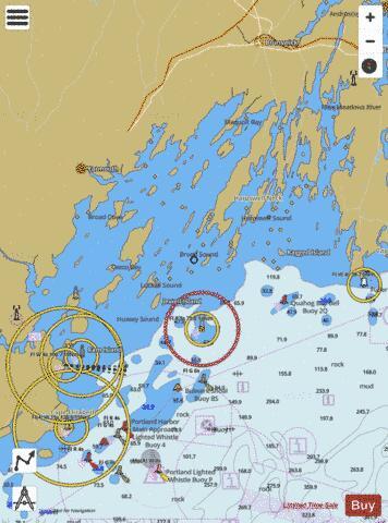 Casco Bay Marine Chart Us13290p2052 Nautical Charts App