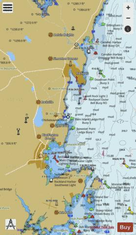 CAMDEN-ROCKPORT and ROCKLAND HARBORS  ME Marine Chart - Nautical Charts App