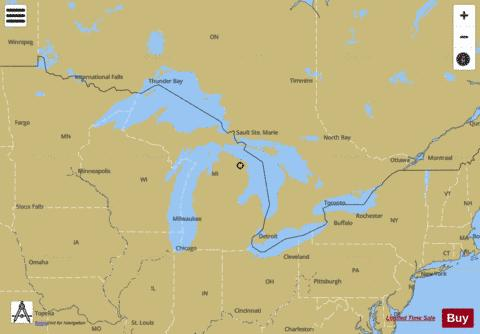 General Chart Of The Great Lakes Marine Chart Nautical Charts App