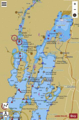 LAKE CHAMPLAIN RIVIERE RICHELIEU TO SOUTH HERO ISLAND Marine - Us map lake champlain
