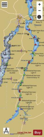 LAKE CHAMPLAIN BARBER POINT NY TO WHITEHALL NY RIGHT Marine Chart - Nautical Charts App
