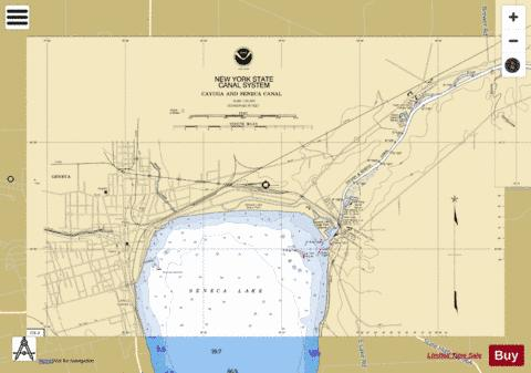 SENECA LAKE Marine Chart - Nautical Charts App