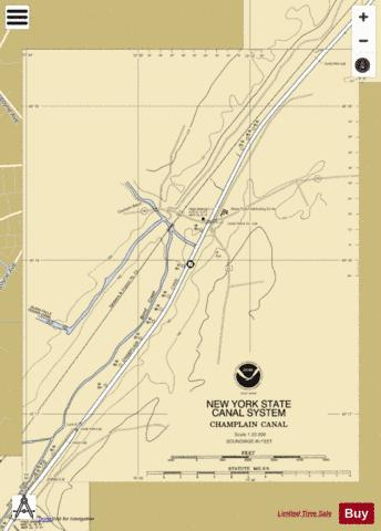 CHAMPLAIN CANAL - BOND CREEK Marine Chart - Nautical Charts App