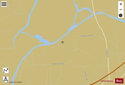 ERIE CANAL - HOWLAND ISLAND GAME REFUGE (Marine Chart