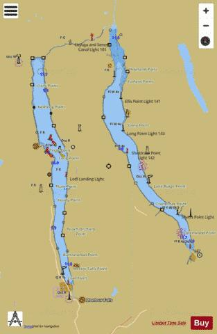 NEW YORK STATE BARGE CANAL SYSTEM CAYUGA AND SENECA LAKES Marine Chart - Nautical Charts App