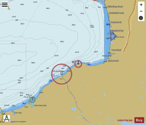 SIX MILES SOUTH OF STONY POINT TO PORT BAY Marine Chart - Nautical Charts App