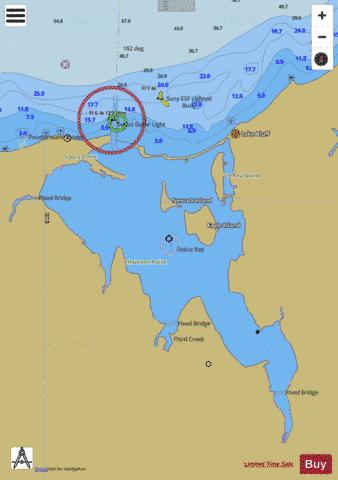 SODUS BAY LAKE ONTARIO NEW YORK Marine Chart - Nautical Charts App