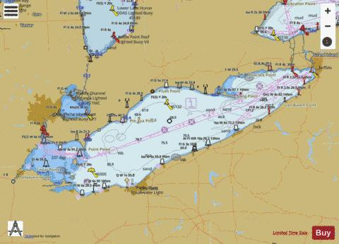 topographic map of lake erie Lake Erie Marine Chart Us14820 P1134 Nautical Charts App
