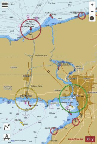NIAGARA RIVER AND WELLAND CANAL (Marine Chart : US14822_P1135